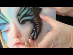 face painting made easy with stencils