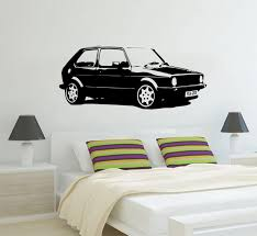 Special Design Vintage Xl Large Car Vw Golf Gti Mk1 Classic Wall Art Decal Sticker Home Decoration Art Mural Room Sticker W 907 Room Stickers Decal Stickerstickers Home Decor Aliexpress