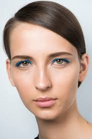 rock spring s bright blue makeup trend
