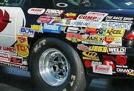 25 Large Racing Decals Stickers Authentic Nascar Nhra Style Ebay