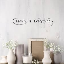 Wall Decal Family Is Everything Love Living Room Vinyl Decor Black 28 Wallstickers4you