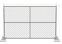 Temporary Chain Link Fence Panels 6 X12 Construction Fence Mesh Spacing 60mm X 60mm X 2 70mm For Sale Construction Fence Panels Manufacturer From China 105957042