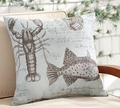 indoor outdoor seacrest print pillow