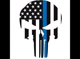 How To Cricut Vinyl Layering Punisher Thin Blue Line Car Decal Youtube