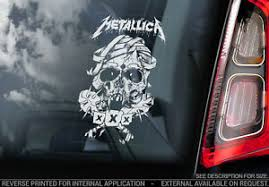 Metallica Car Window Sticker Band Decal Laptop Rock Music Vinyl Sign Art V03 Ebay