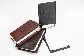 leather flip style notepad made in