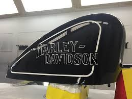 Harley Davidson Tank Lettering Decal Pair Super Signs