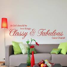 Classy And Fabulous Coco Chanel Quote Wall Sticker Decal World Of Wall Stickers