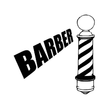 Barber Hair Vinyl Sticker