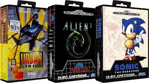 Sega Mega Drive Europe No-Intro Art Pack (3D Boxes, 2D Carts ...