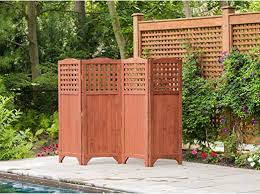 Leisure Season Ps9662 Folding Patio And Garden Privacy Screen Brown 1 Piece Portable Wooden Enclosure And Backyard Fence Panels Indoor Outdoor Decks Balcony Room Dividers And Wall Screens