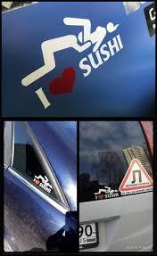 Hotmeini 12 6cm Car Styling I Love Sushi Car Stickers Window Motorcyc Hot Car Sticker