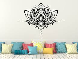 Lotus Flower Wall Decals Lotus Vinyl Stickers Namaste Bohemian Decal Walmart Com Walmart Com