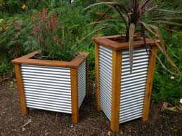 Corrugated Metal Fence Panels Mini Garden Large Three Tub Planter Corrugated Metal Fence Garden Fence Panels Metal Fence Panels