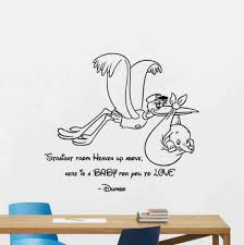 Dumbo Wall Decal Straight From Heaven Up Above Stork Walt Etsy