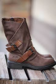 blowfish double buckle boots brown