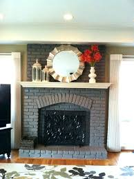 painting a brick fireplace ideas