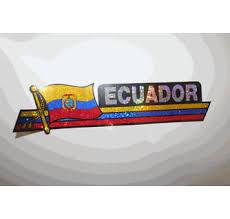 Ecuador Car Bumper Sticker Decal Automobile Country Flag Emblem Merchandise