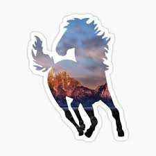 Horse Silhouette Stickers Redbubble