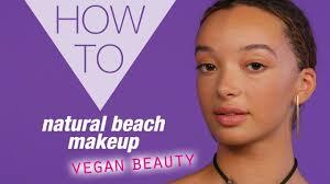 how to beach makeup look vegan