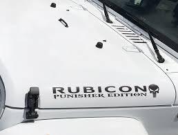 For X2 Jeep Wrangler Rubicon Punisher Tj Lj Jk Jku Vinyl Hood Decal Sticker Car Truck S Car Stickers Aliexpress