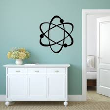 Atom Decal Science Sticker Wall Decal Wall Art Science Etsy