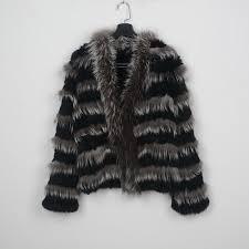 women real rabbit fur jacket winter