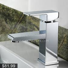 square one hole bathroom sink faucet
