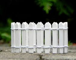 Mini Garden Fence Etsy
