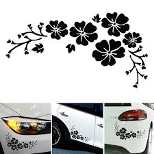 Car Floral Decals Nature Stickers For Decoration Covering Scratches Garden Gift Hub