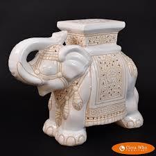 white elephant garden seat circa who