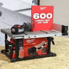 Milwaukee Tool S New M18 Fuel Cordless Table Saw