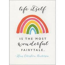 wonderful fairy tale hans christian andersen quote greetings