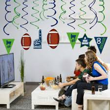 Sports Football Theme Party Decorations Pvc Spiral Go Seahawks Hanging Swirl Kids Birthday Party Supplies Party Diy Decorations Aliexpress