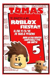 Tarjetas Invitaciones Cumpleanos Roblox X10uni 60 00 En