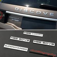 For Hse Sd V8 Autobiography Metal Decal For Land Rover Range Rover Defender Discovery Evoque Freelander 1 2 3 4 Car Body Styling Car Stickers Aliexpress