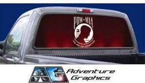 Vehicle Graphics Rear Window Graphics Pow Mia American Pride Rear Window Graphic