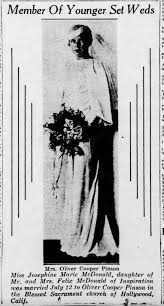 Josephine Marie McDonald Wedding Picture 16 Jul 1933 - Newspapers.com