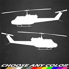 2 Us Army Uh 1 Huey Helicopter Stickers Side View Military Graphics Decal Car Ebay