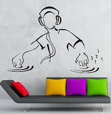 Wall Stickers Dj Music Party Night Club Dance Floor Vinyl Decal Unique Wallstickers4you