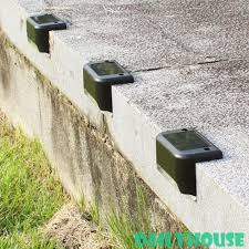 New Cod 4pcs Led Solar Deck Lights Ip65 Waterproof Outdoor Pathway Yard Stairs Steps Fence Lamps Shopee Philippines