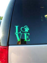 Heart Paw Print Love Window Decal Doggie Danna