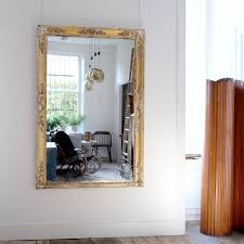 large french antique overmantle mirror