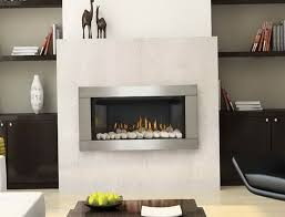 ventless natural gas fireplace wall