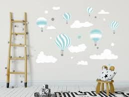 Air Balloons Wall Decal Boys Cloud Wall Decal Sticker Hot Air Balloons Walldecal Decor Air Balloons Girls Nursery Room Decor Wall Art Baby Wall Decals Nursery Room Decor Girl Nursery Room