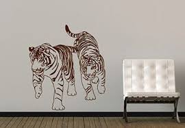 Tigers Wall Decal Majestic Tiger Animal Decals Wall Stickers Tiger Wall Decals Pet Tiger