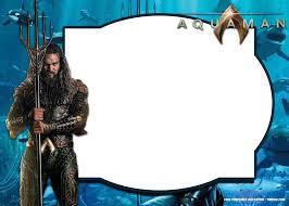 Free Printable Aquaman Invitation Templates Cumpleanos