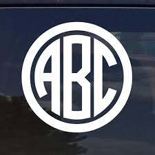 Amazon Com Custom Circle Monogram Initials Vinyl Decal Sticker Cars Yeti Cup Laptop Phone 12 Colors 3 Home Kitchen