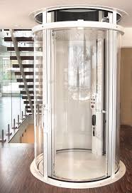 visilift round glass elevator with