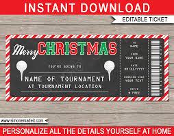 golf ticket gift voucher